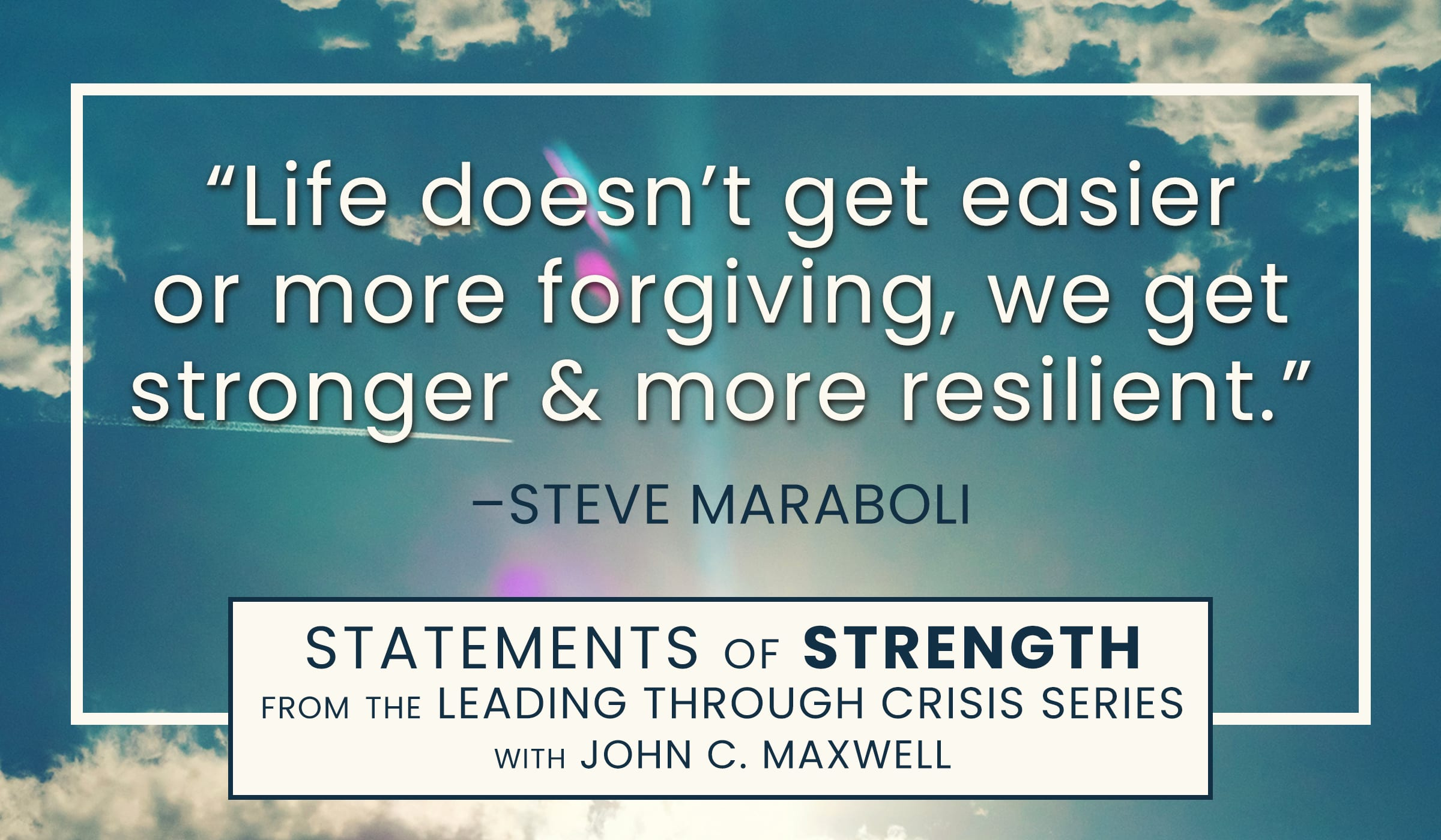 image of quote picture with qoutation by steve maraboli on resilience